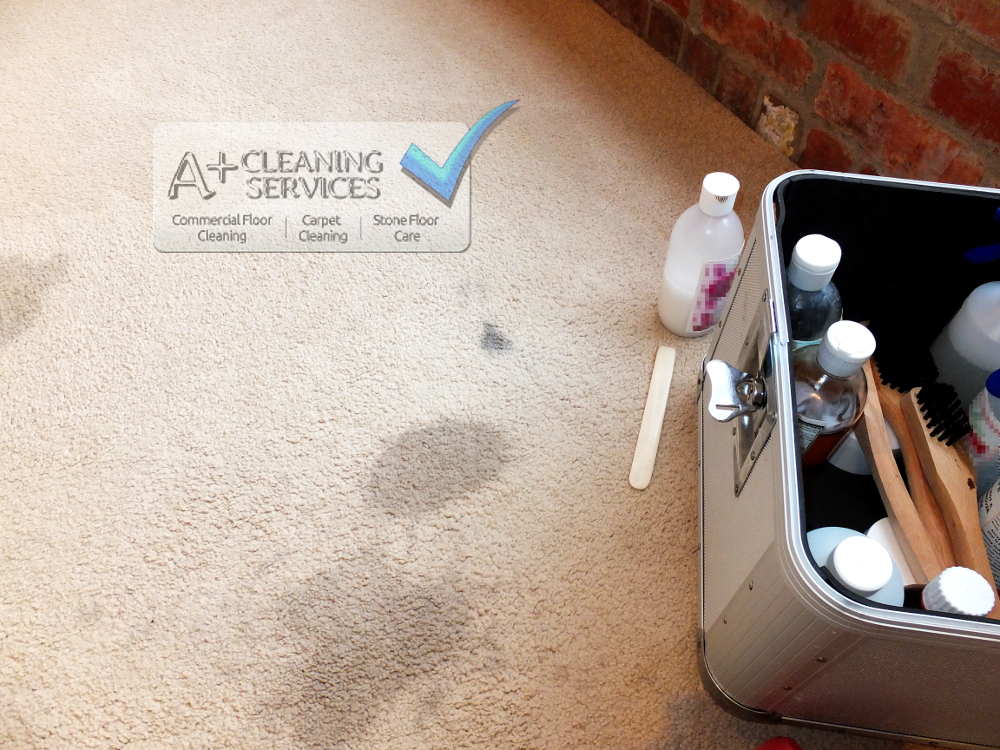 Carpet Cleaner Stroud - Ink and Spills (Before) by A+ Cleaning Services