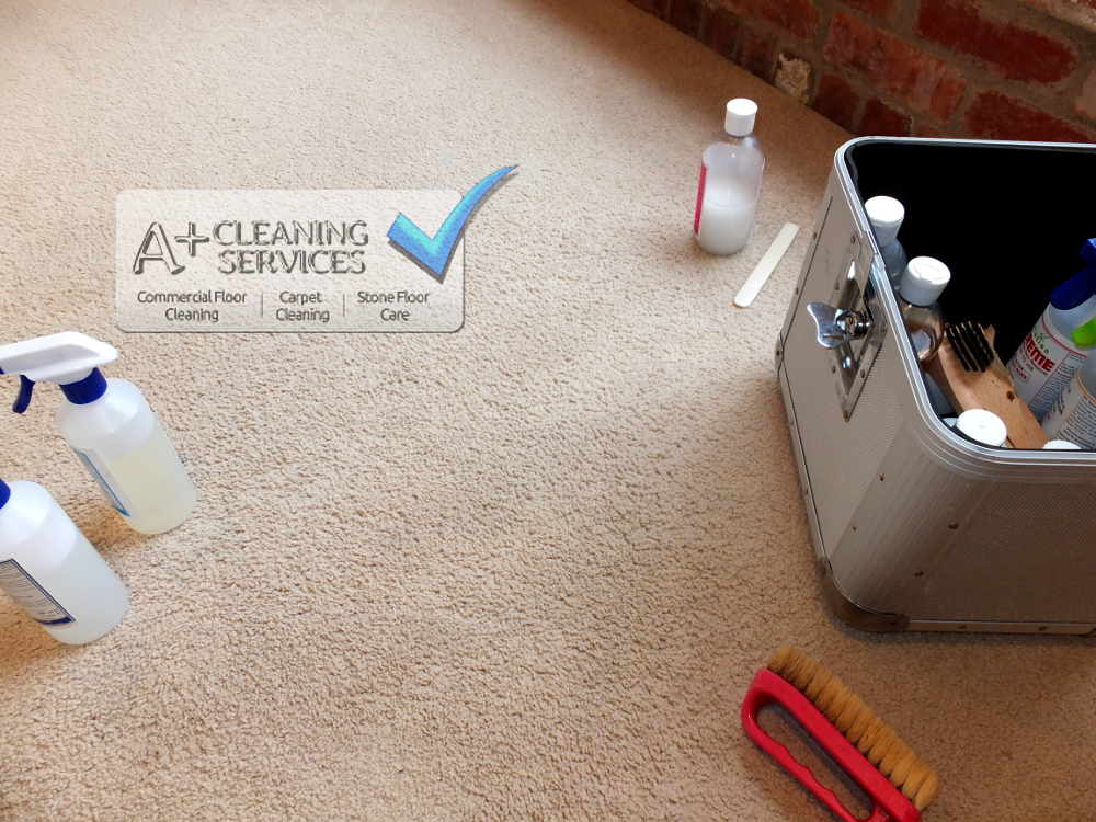 Carpet Cleaner Stroud- Ink and Spills (After) by A+ Cleaning Services