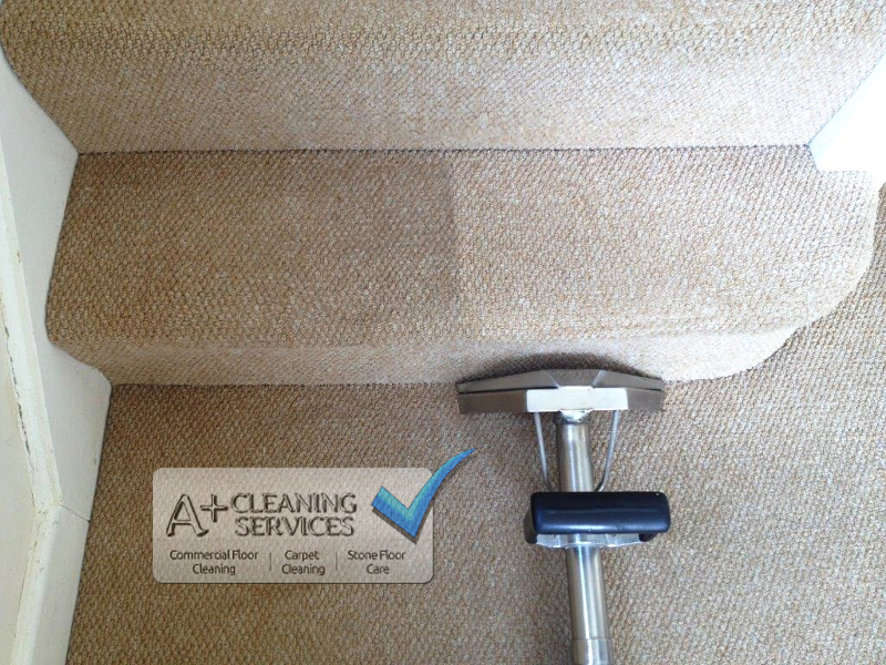 Carpet Cleaner Cheltenham -Stair Halfway Clean
