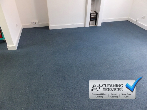 Carpet Cleaning Cirencester - Blue Carpet Tiles 2 by A+ Cleaning Services