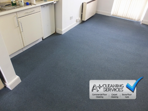 Carpet Cleaning Cirencester - Blue Carpet Tiles 4 by A+ Cleaning Services