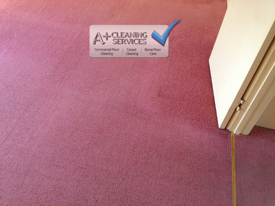 Carpet Cleaning Stroud - Red Lounge (After) - A+ Cleaning Services